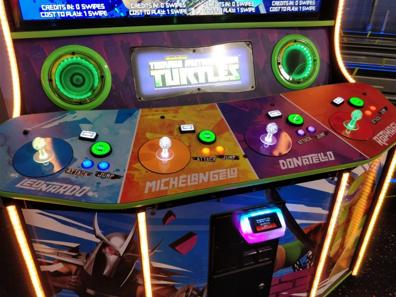 Arcade Heroes Now Available  Teenage Mutant Ninja Turtles   Arcade     TMNT final control panel