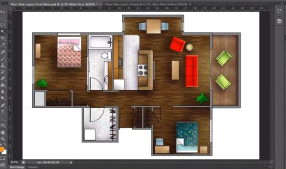 Architectural house plans autocad How to render a Floor Plan created in AutoCAD Photoshop