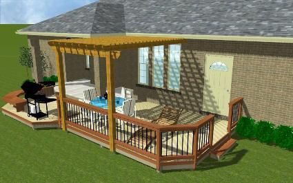 St Louis Deck Pergola Gazebo Screened Porch Combined