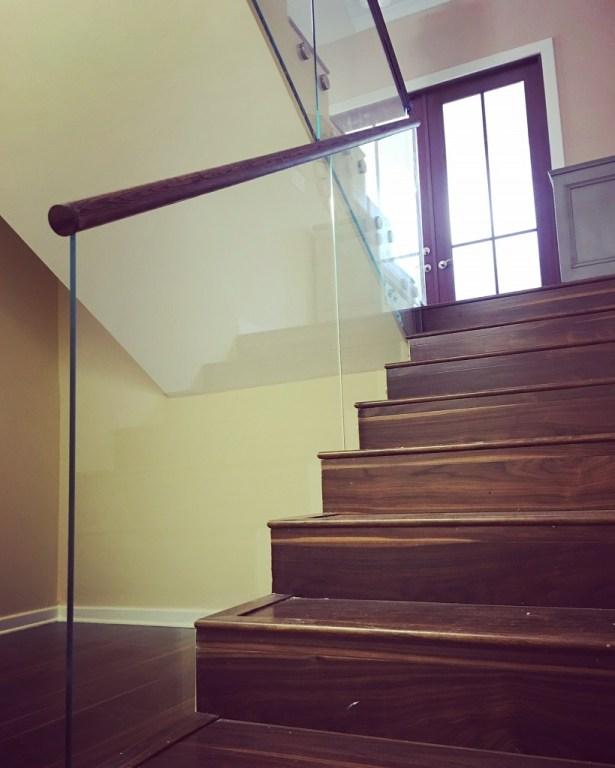 Glass Railings Second Floor Guardrail Bella Stairs Llc   Second Floor Stairs Design   Tree Trunk   Elegant   3Rd Floor   Creative   Tight Space