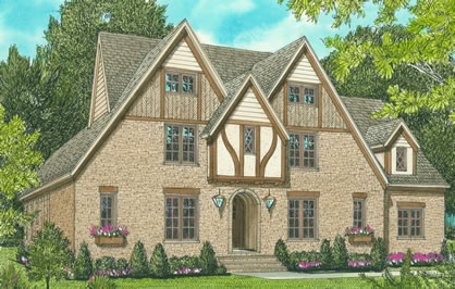 English Country Style Tudor House Plans With 4 Bedrooms Picture of English Country