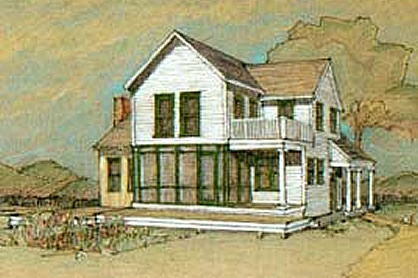 Farmhouse Plans For a Traditional 2 Story 4 Bedroom Home Heartland Farmhouse