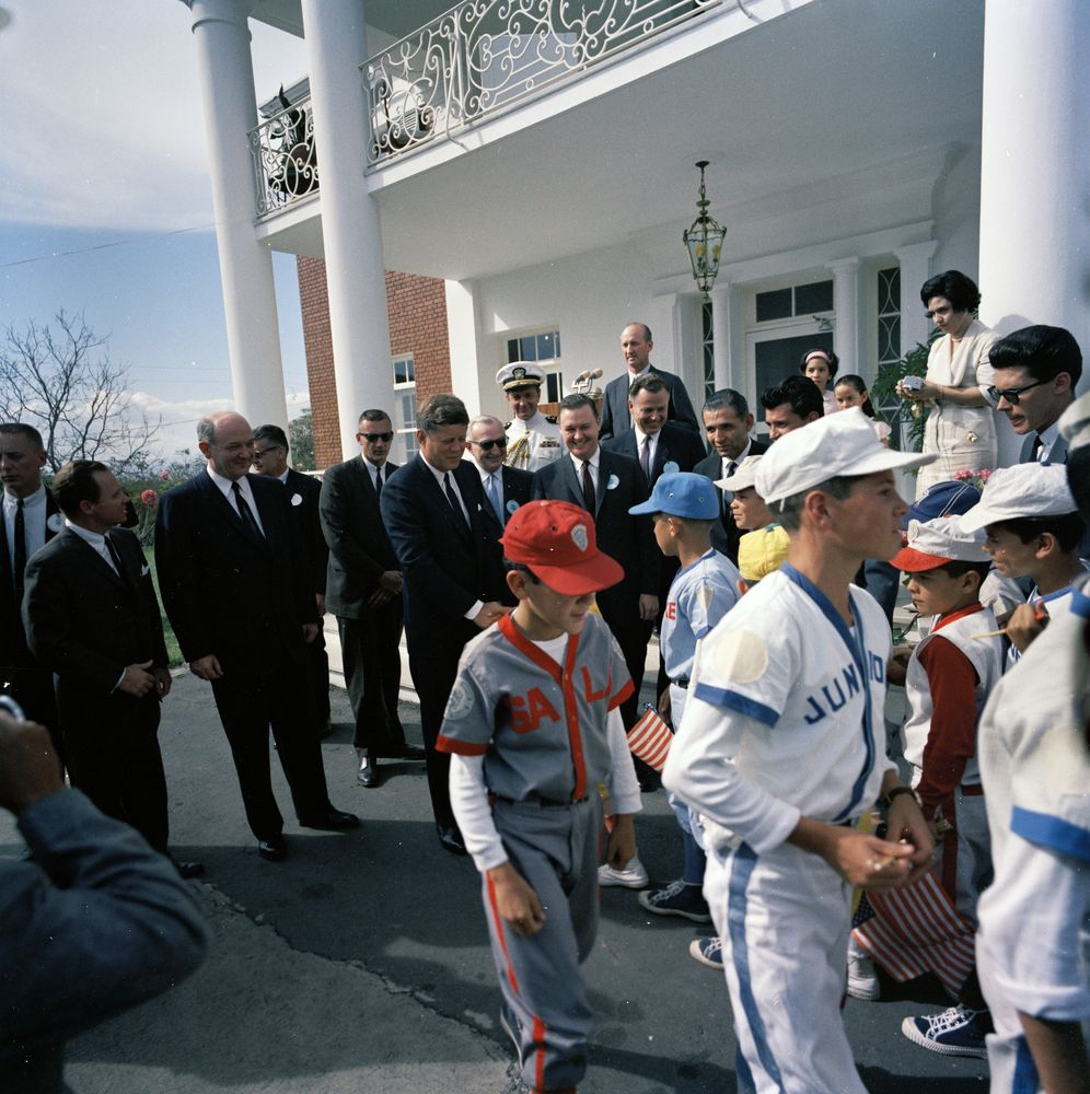 Trip To Costa Rica President Kennedy Greets Costa Rican
