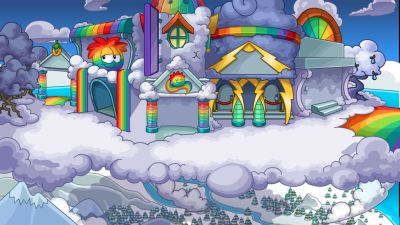Rainbow Puffle Party - Club Penguin Archives
