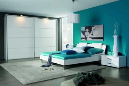 Best Home Design » chambre bleu canard