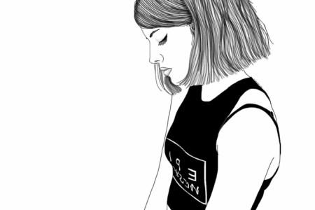Dessin Noir Et Blanc Fille Tumblr