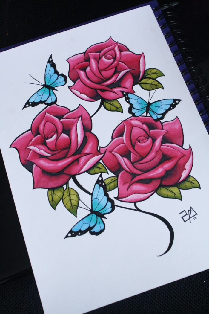Drawings Rose Tattoo Tumblr
