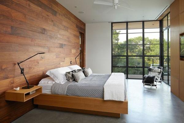 Charmant Schaffen Sie Eine Gem Tliche Atmosph Re Im Zimmer Holzwand Ideen Luxus  Schlafzimmer Mit Einer Holzwand