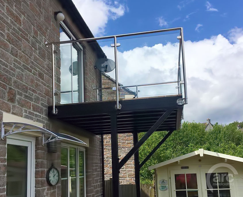 Stainless Amp Glass Balconies And Walkways Arc