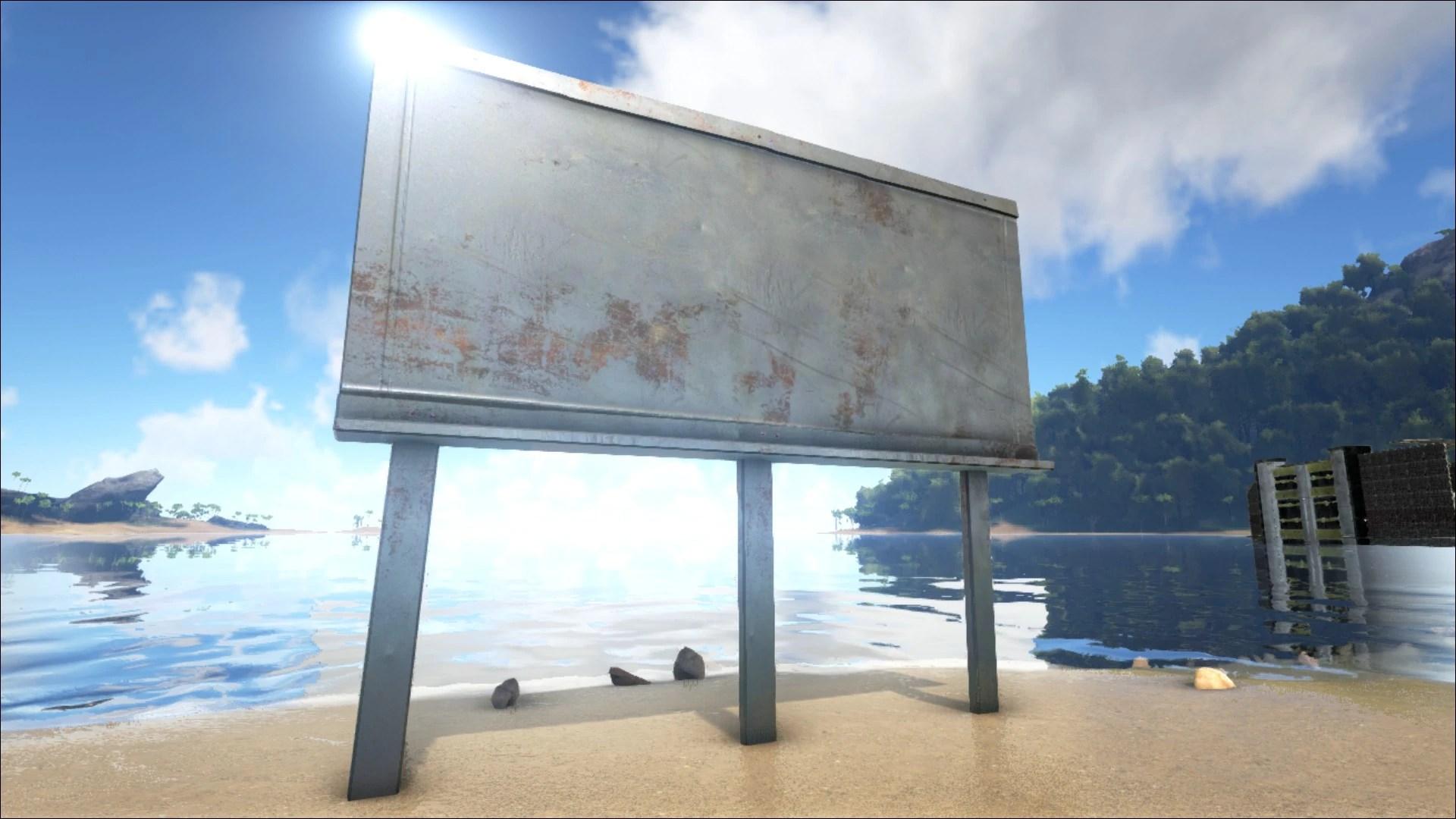 Metal Billboard Official Ark Survival Evolved Wiki