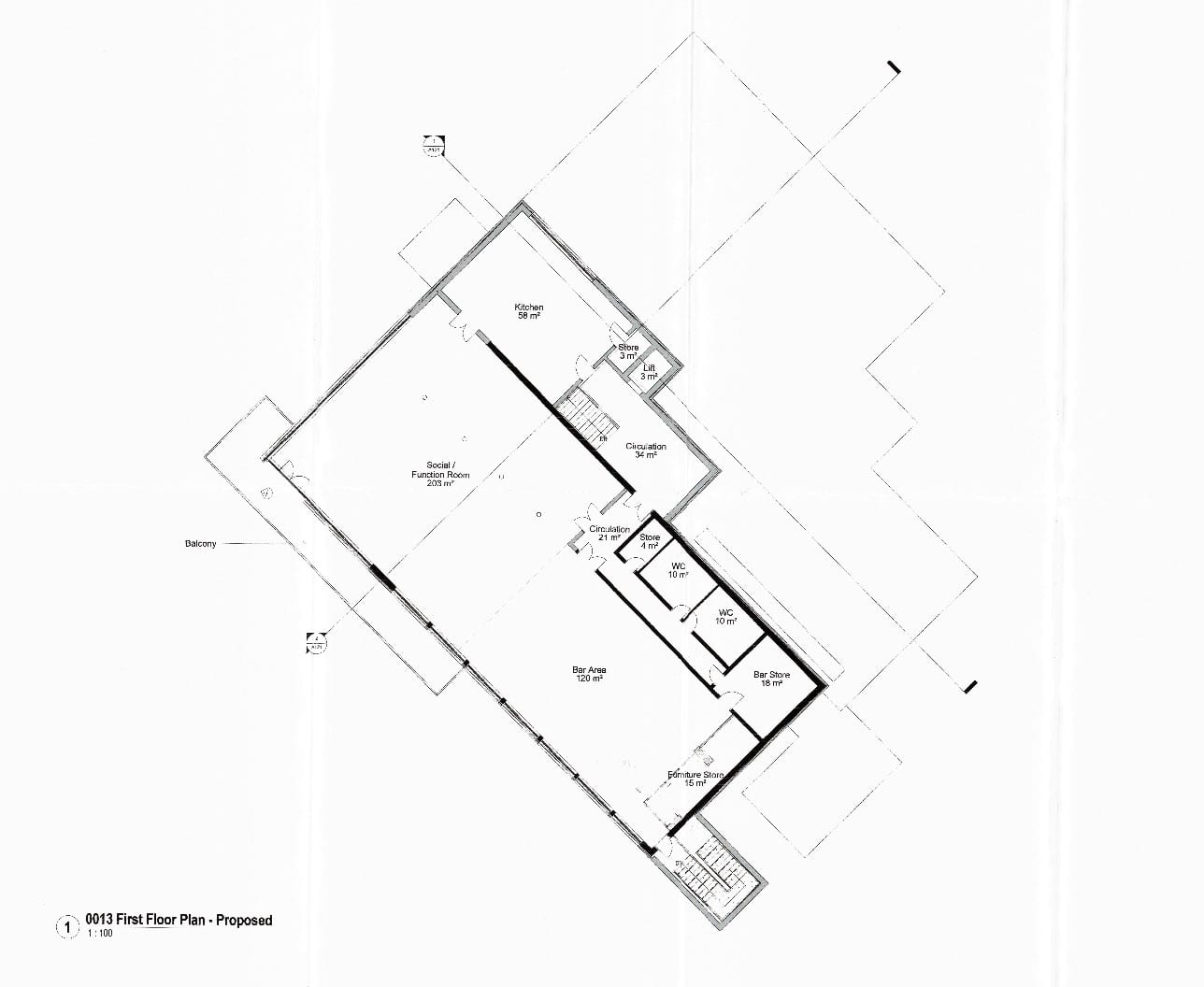 Proposed first floor plans