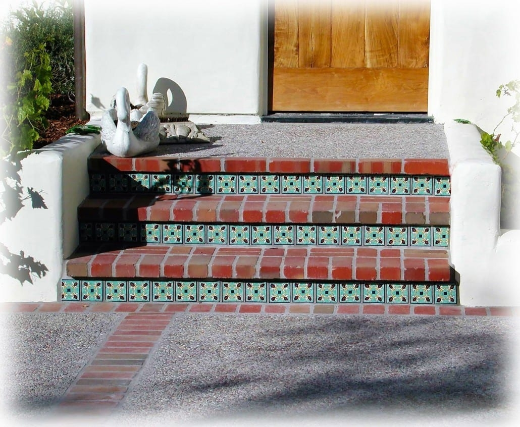 Decorative Tiled Stair Risers Tile Stairs Hand Painted   Stair Riser Tiles Designs