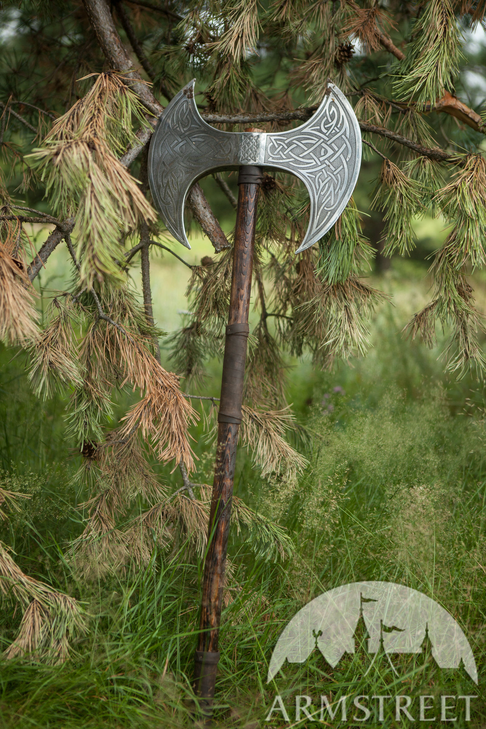 Fantasy Viking Double Head Axe Available In Stainless