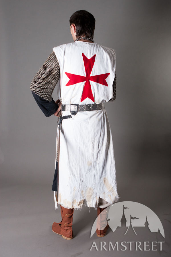 Knight Crusader Templar Tabard With Red Cross For Sale
