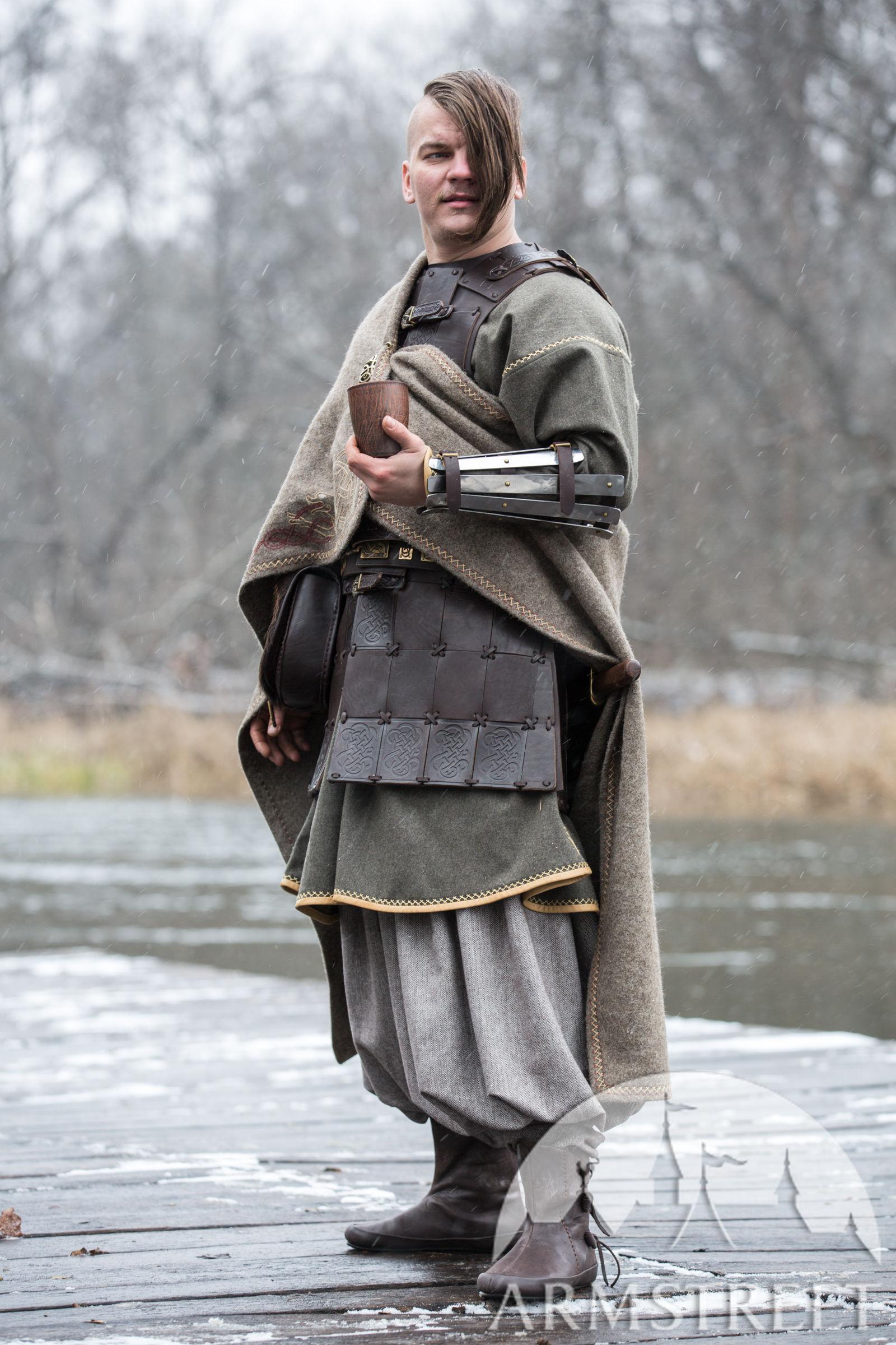 Olegg The Mercenary Viking Cloak With Embroidery For