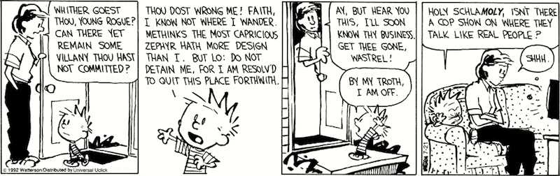 Calvin And Hobbes Show And Tell