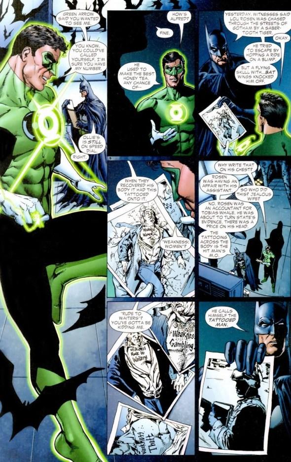 Green Lantern Bonds With Batman Arousing Grammar