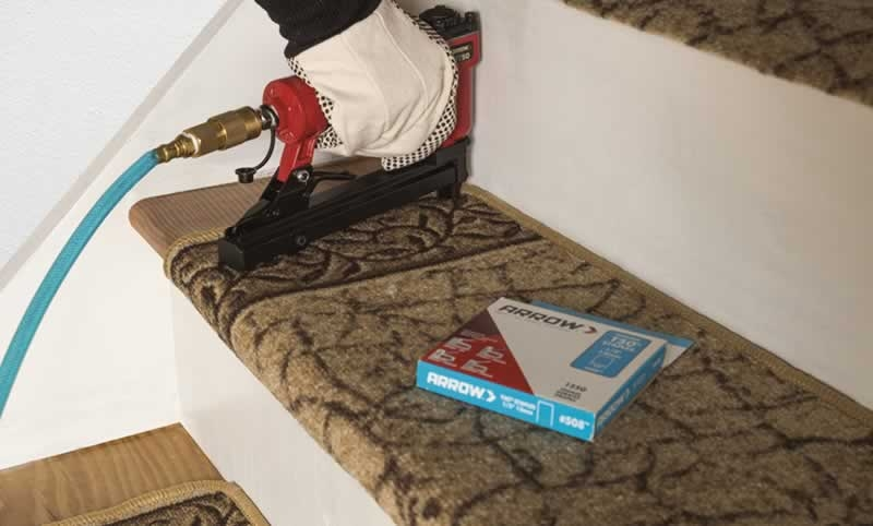 How To Install Carpet Stair Treads On Your Staircase Arrow   Carpet Stair Treads Only   Wood   Hardwood   Stair Runner   Non Slip   Hardwood Floors