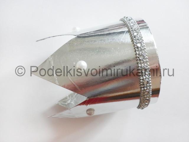 Өз қолыңызбен қағаз тәжі: фотосуреті бар шаблон, екінші қадам