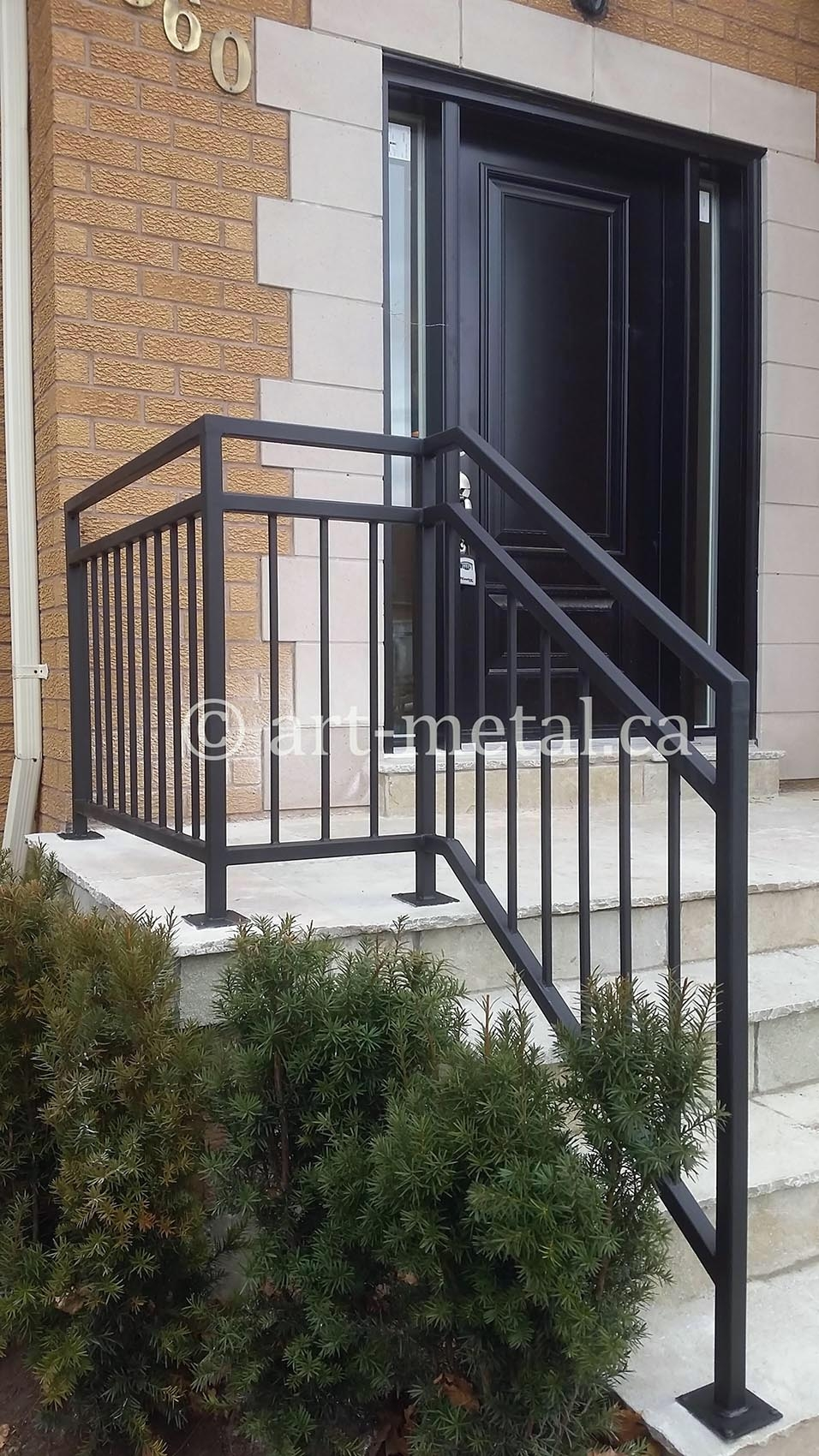 Exterior Railings Handrails For Stairs Porches Decks   Aluminum Railing For Outside Steps