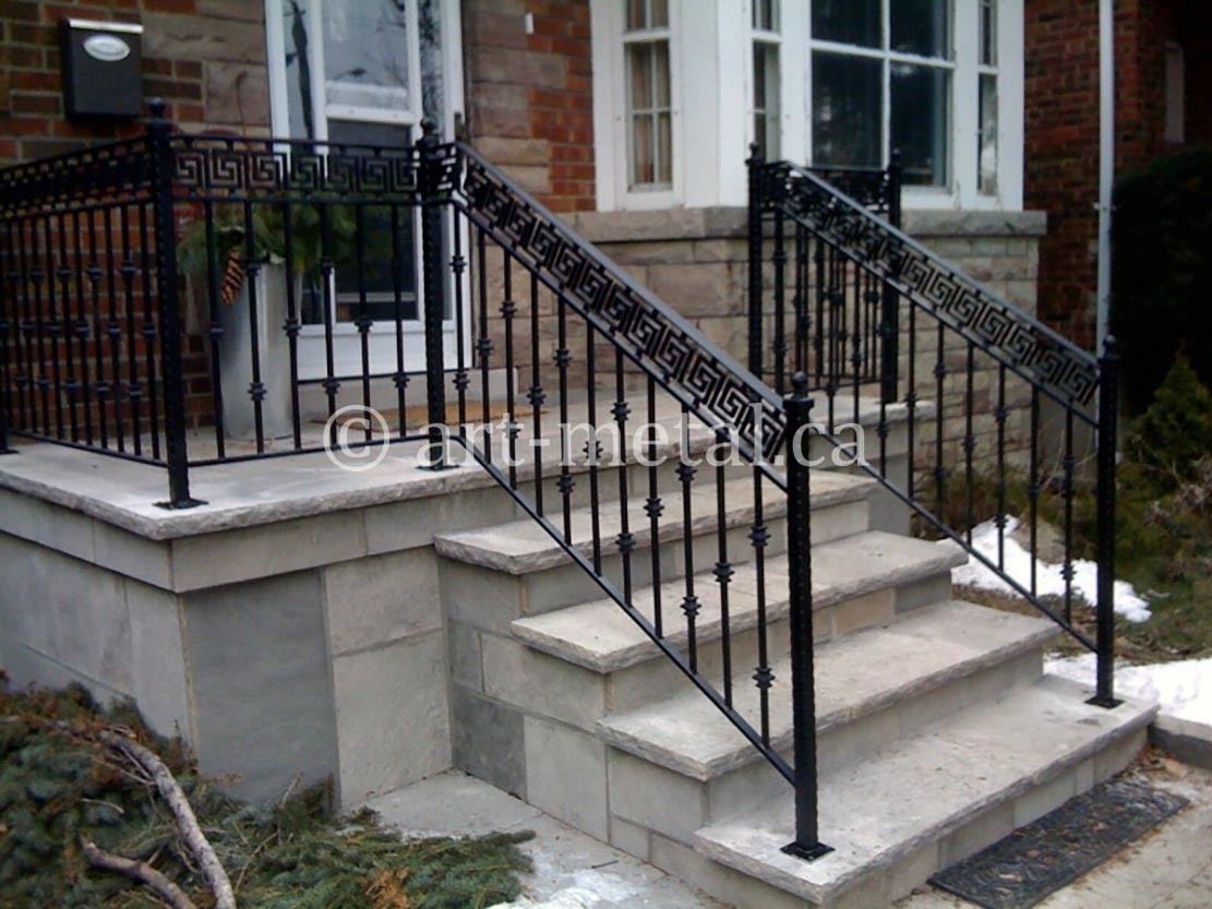 Exterior Stair Handrail Code For Construction In Ontario   Aluminum Railing For Outside Steps