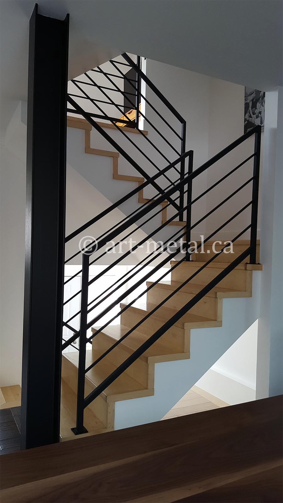 Interior Metal Stair Railing From The Best Contractor In Toronto | Iron Stair Railing Indoor | Cast Iron Balusters | Railing Kits | Interior Wrought | Rod Iron | Wood