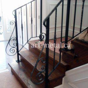 Elegant And Modern Interior Wrought Iron Railings For Stairs | Iron Handrails For Stairs Interior | Wall Mounted | Balcony | Dark Brown | Room Divider | Custom