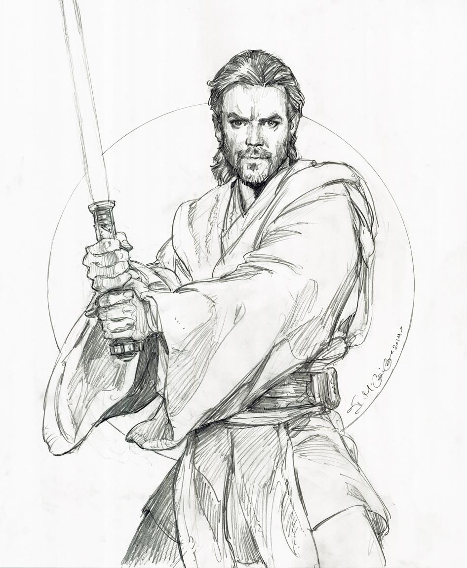 free coloring pages download star wars obi wan kenobi drawing iain mccaig in han parks