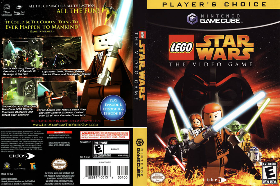 GL5E4F   LEGO Star Wars  The Video Game HQ      LEGO Star Wars  The Video Game GameCube cover  GL5E4F