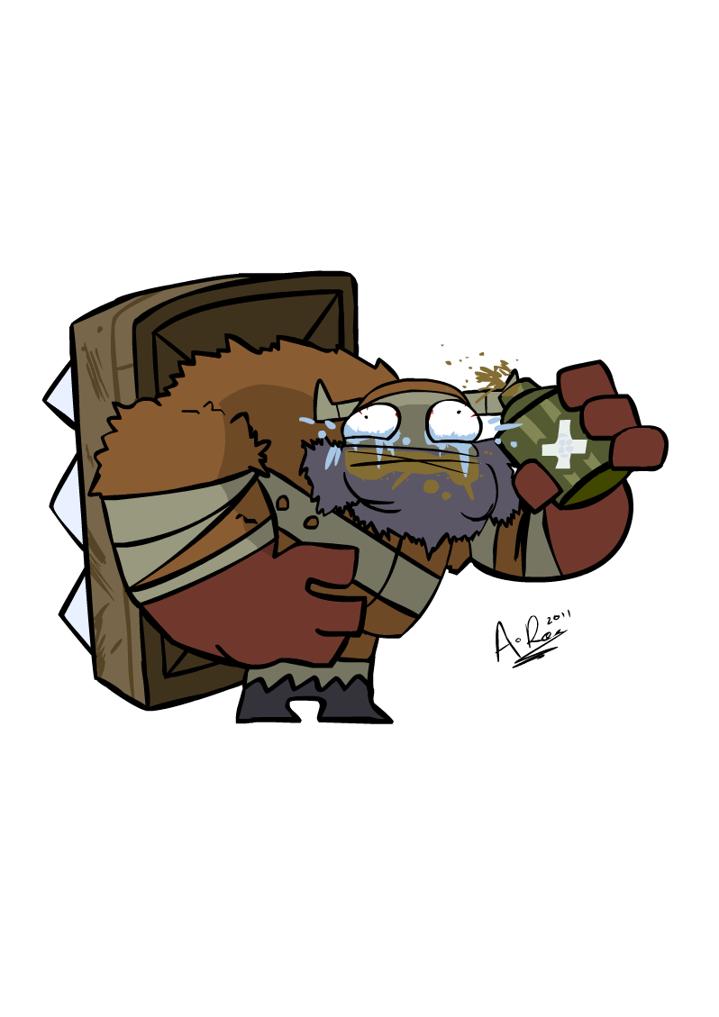 Fan Castle Crashers Barbarian Art