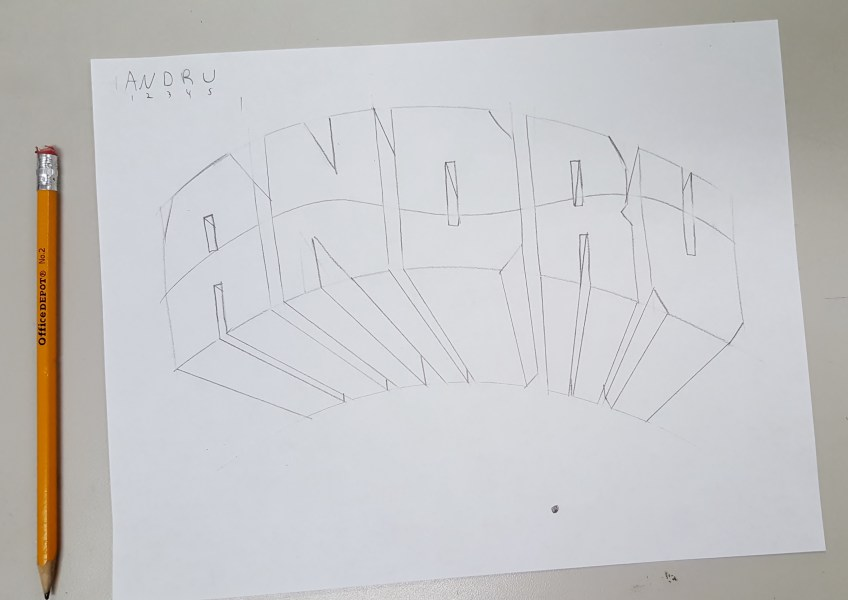 Easiest Way to Draw 3 D Block Letters     Art Class Bailiwick 12