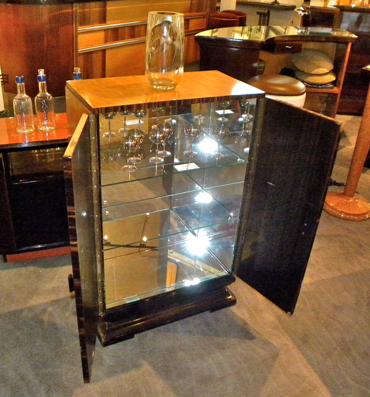 Art Deco Bar Cabinet Sold Items Dining Room Art Deco