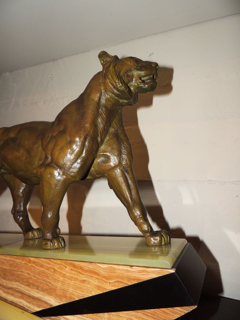 Bronze Art Deco Lion Sculpture Statues Art Deco Collection
