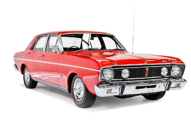 Red Falcon Door Ford V8 1968 2