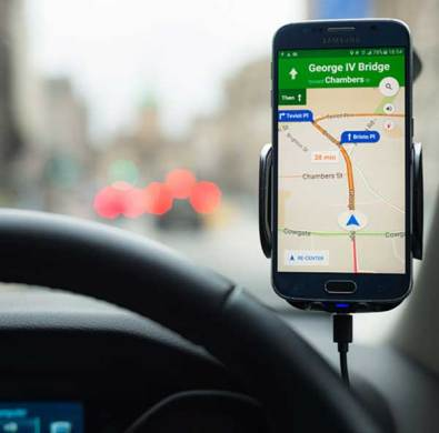 Best GPS Buying Guide   Consumer Reports Photo of a smartphone GPS app