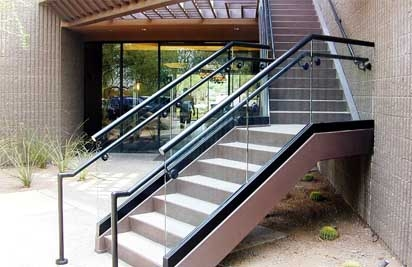 Metal Stair Railings Arizona Wrought Iron Stainless Steel Copper | Wrought Iron Outdoor Handrails | Curved | Vintage Salvaged Outdoor Iron | Aluminum | Modern | Residential