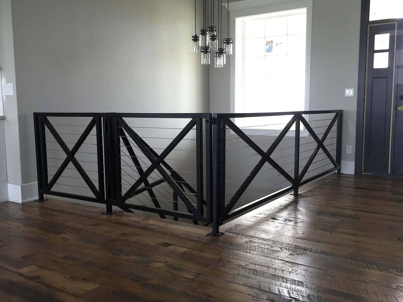 Iron Railings Fences Gates Custom Designed For Your Home | Modern Metal Railings Interior | Modern Style | Horizontal | Wood | Simple | Custom