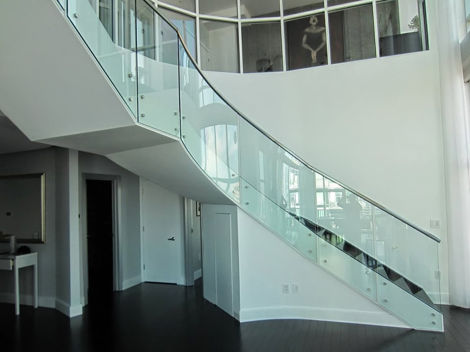 Glass And Stainless Steel Staircase Artistic Stairs