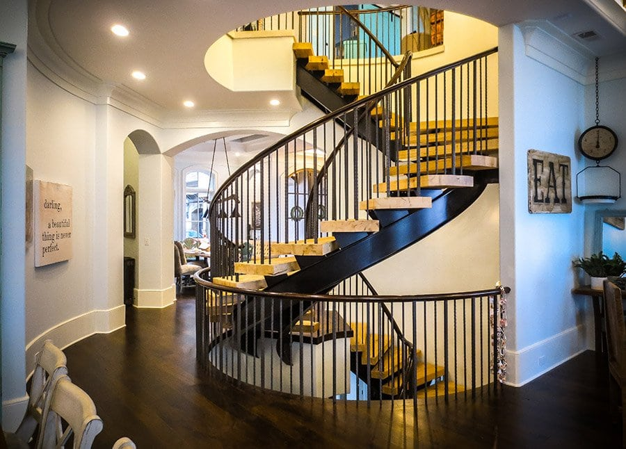 Open Riser Stairs Custom Stairs Artistic Stairs