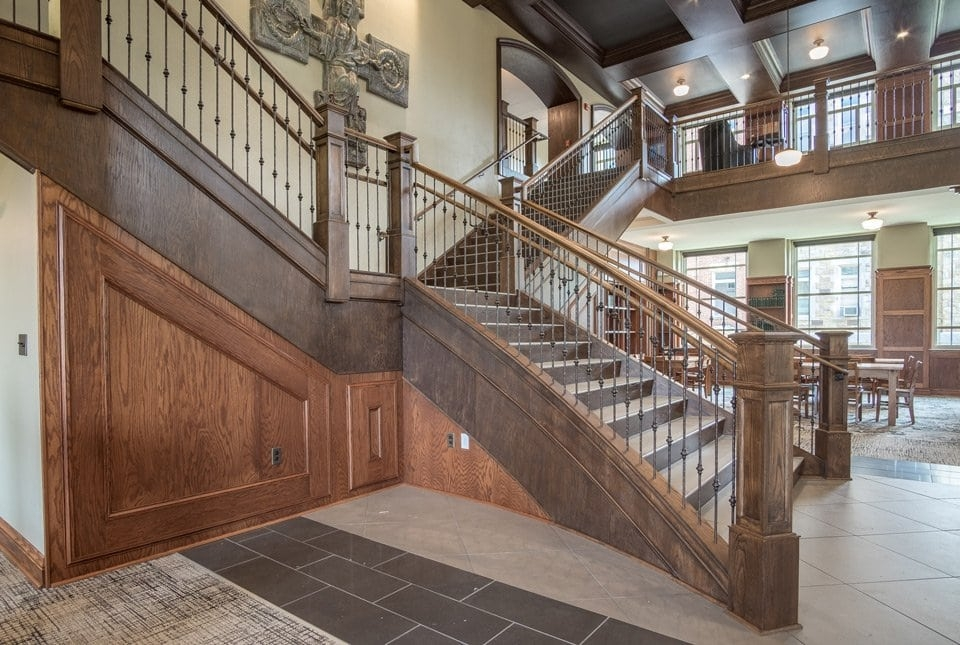 Rustic Staircase Southern Staircase Artistic Stairs | Rustic Handrails For Stairs | Modern | Country Style | Antique Wooden Stair | Basement | Interior