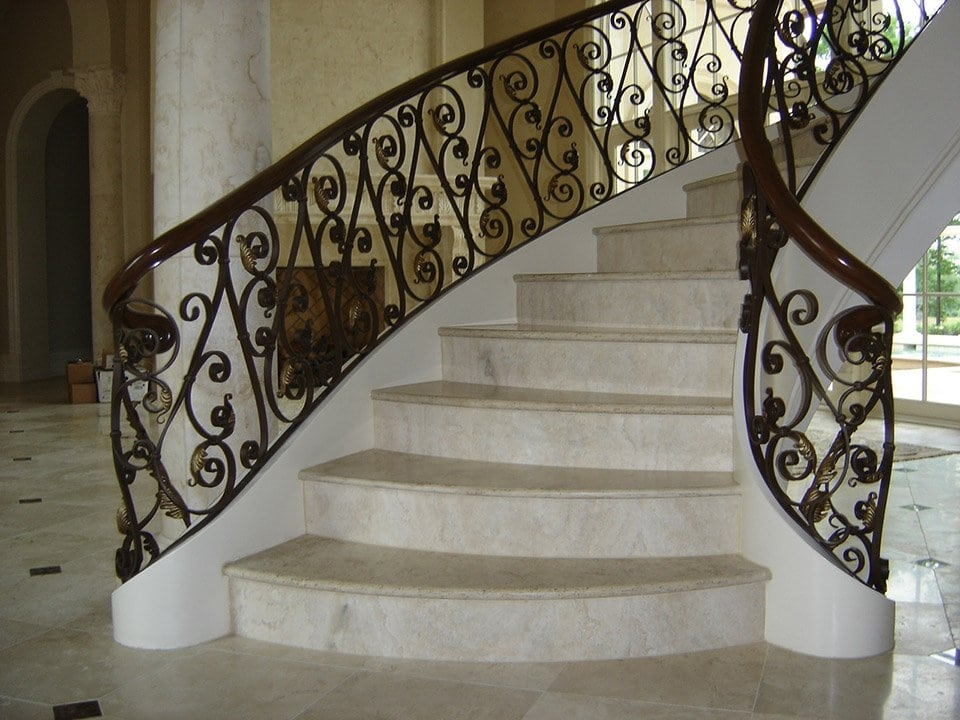 Wrought Iron Stair Railing Southern Staircase Artistic Stairs | Buy Handrails For Stairs | Stair Systems | Wrought Iron Balusters | Wood | Stair Treads | Lj Smith