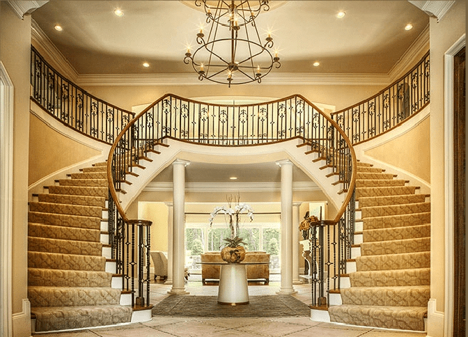 Curved Stairs Southern Staircase Artistic Stairs | Round Staircase House Plans | Beautiful | Small House | Exterior | Dimension | Stair Outside