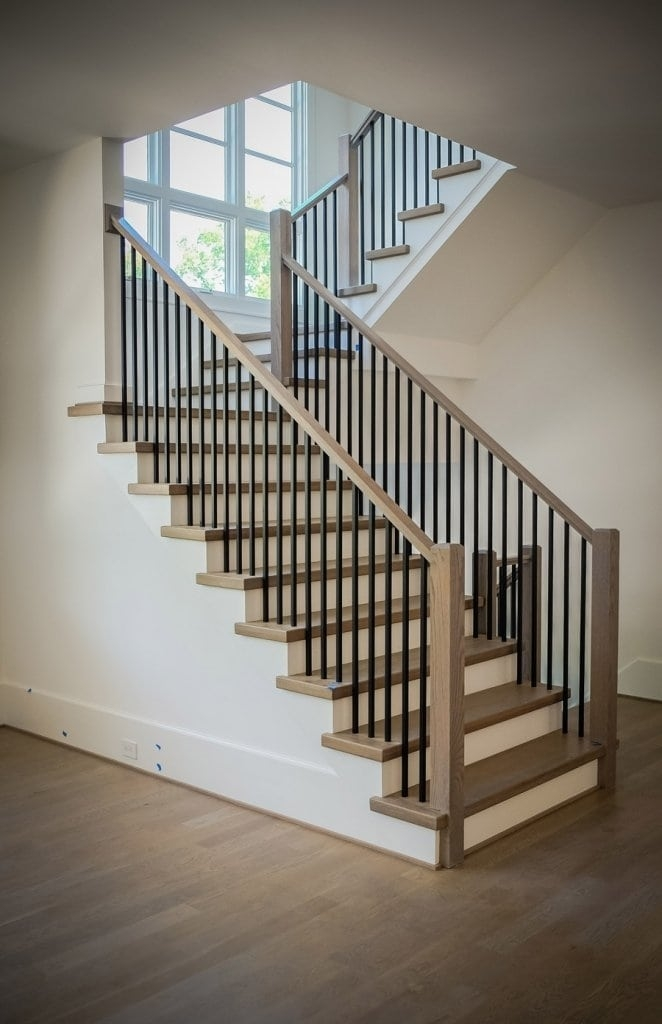 Mission Style Staircase Southern Staircase Artistic Stairs   Metal And Wood Stairs   Straight   Diy   Residential   Rustic   Stair Railing