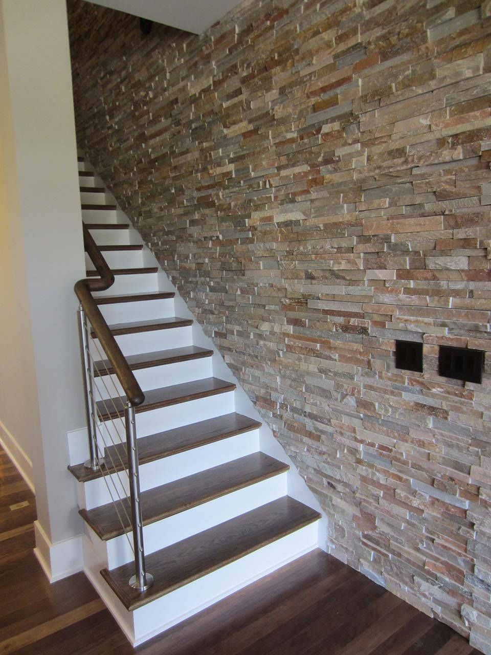 Cable Railing Systems Southern Staircase Artistic Stairs | Modern Cable Stair Railing | Entry Foyer | Staircase Remodel | Stair Treads | Glass Railing | Deck Railing
