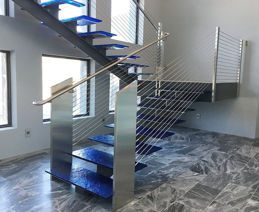Glass Stainless Southern Staircase Artistic Stairs | Staircase Designs With Steel And Glass | Affordable | Outdoor | Railing | Spiral | Staircase Design Modern House