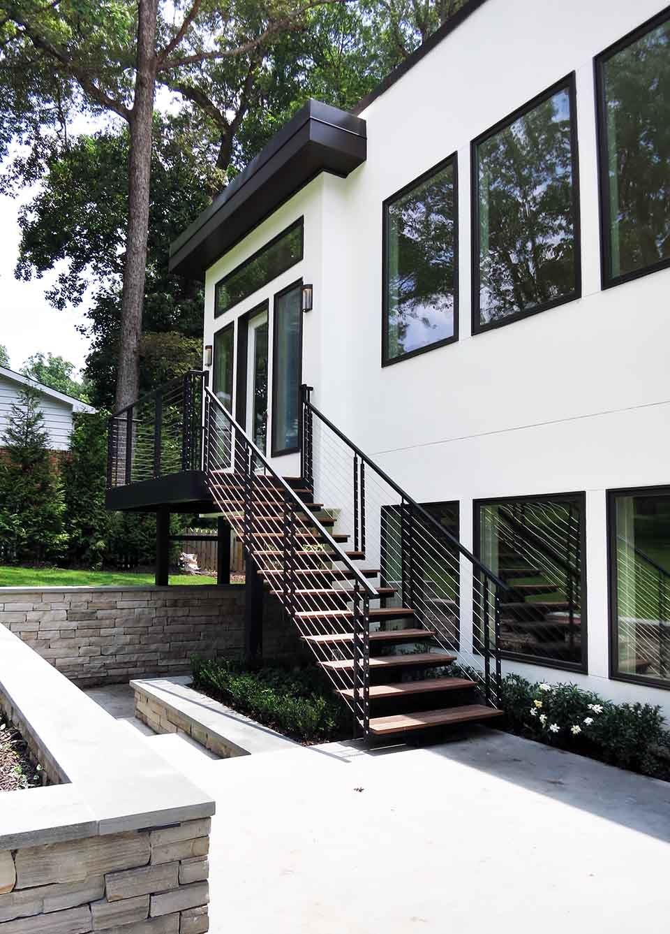 Exterior Stairs Southern Staircase Artistic Stairs | Metal Staircases For Homes | Beam | Stainless Steel | Support | Statement | Metallic