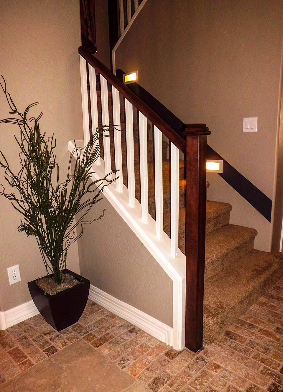 Mission Style Staircase Southern Staircase Artistic Stairs | Craftsman Style Exterior Stair Railings | Step | Black Iron | Fence | Craftsman House | Outdoor