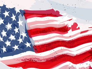 HD Decor Images » Usa flag in shape of map in water color paint    Buy this stock     Usa flag in shape of map in water color paint