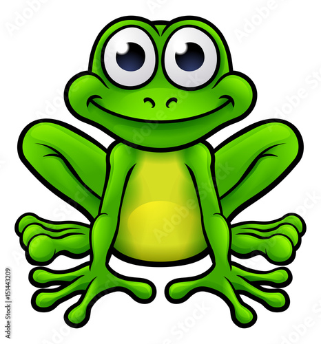 Frog Cartoon Character - Buy this stock vector and explore ...