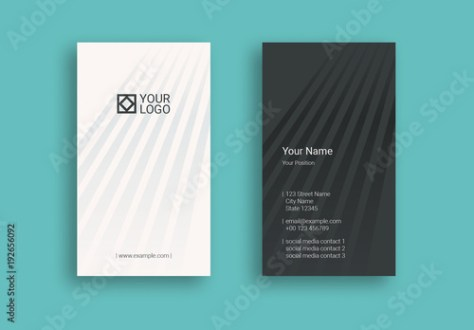 Striped Business Card Layout  Buy this stock template and explore     Striped Business Card Layout